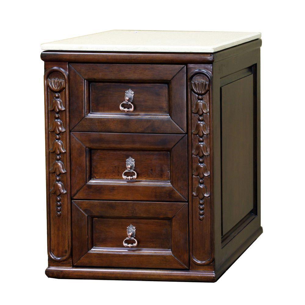 Fuller 18 in. Vanity Cabinet Only in Medium Walnut