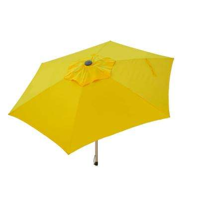 8.5 ft. Aluminum Manual Push-Up Tilt Patio Umbrella in Yellow Polyester