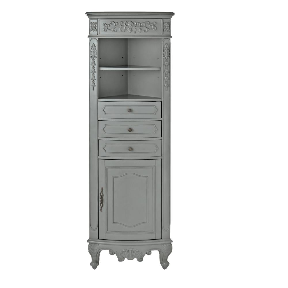 Home decorators collection winslow 22 in w x 67 1 2 in h for Grey bathroom cupboard