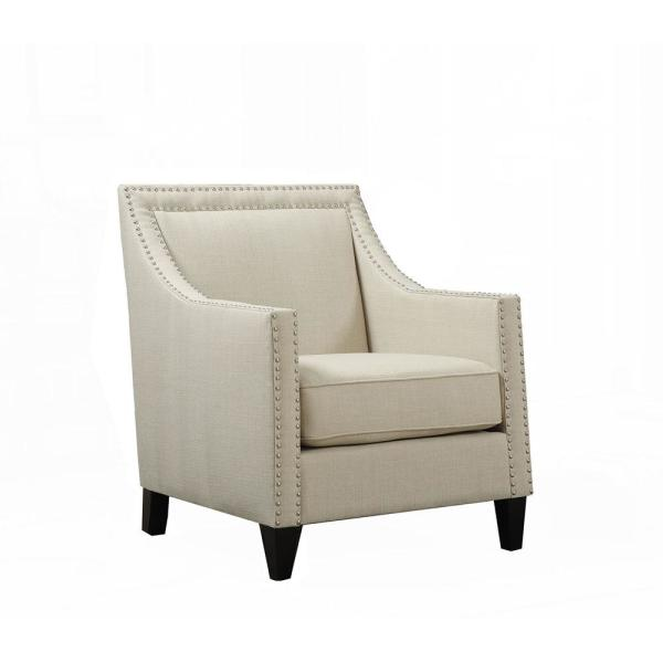 Accent Chair With Arms Nail Head Design: Cambridge Bridgehampton Natural Accent Chair With Nailhead