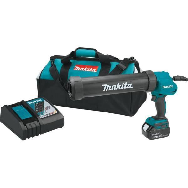 18-Volt LXT Lithium-Ion 29 oz. Cordless Caulk and Adhesive Kit with (1) 5.0Ah Battery, Rapid Charger, and Tool Bag