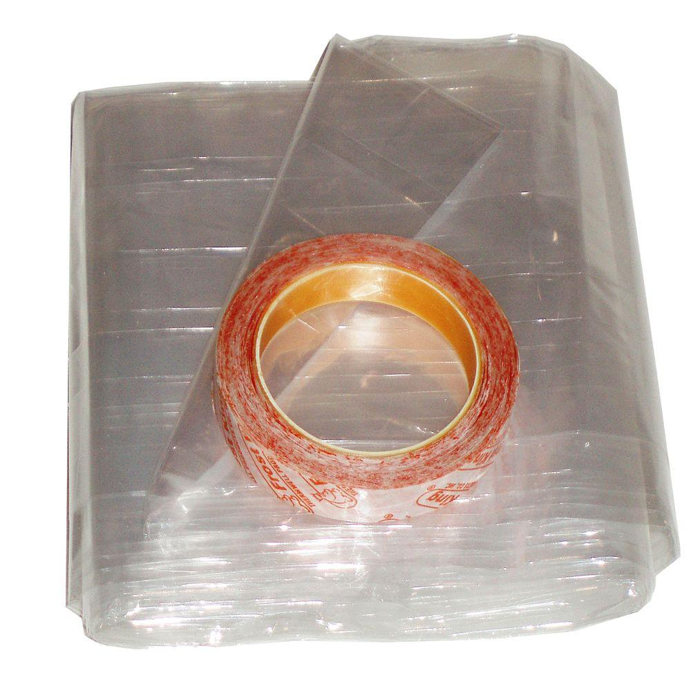 Frost King E/O 62 in. x 210 in. Polyurethane Extra-Large Shrink Window Insulation (2 per Pack)