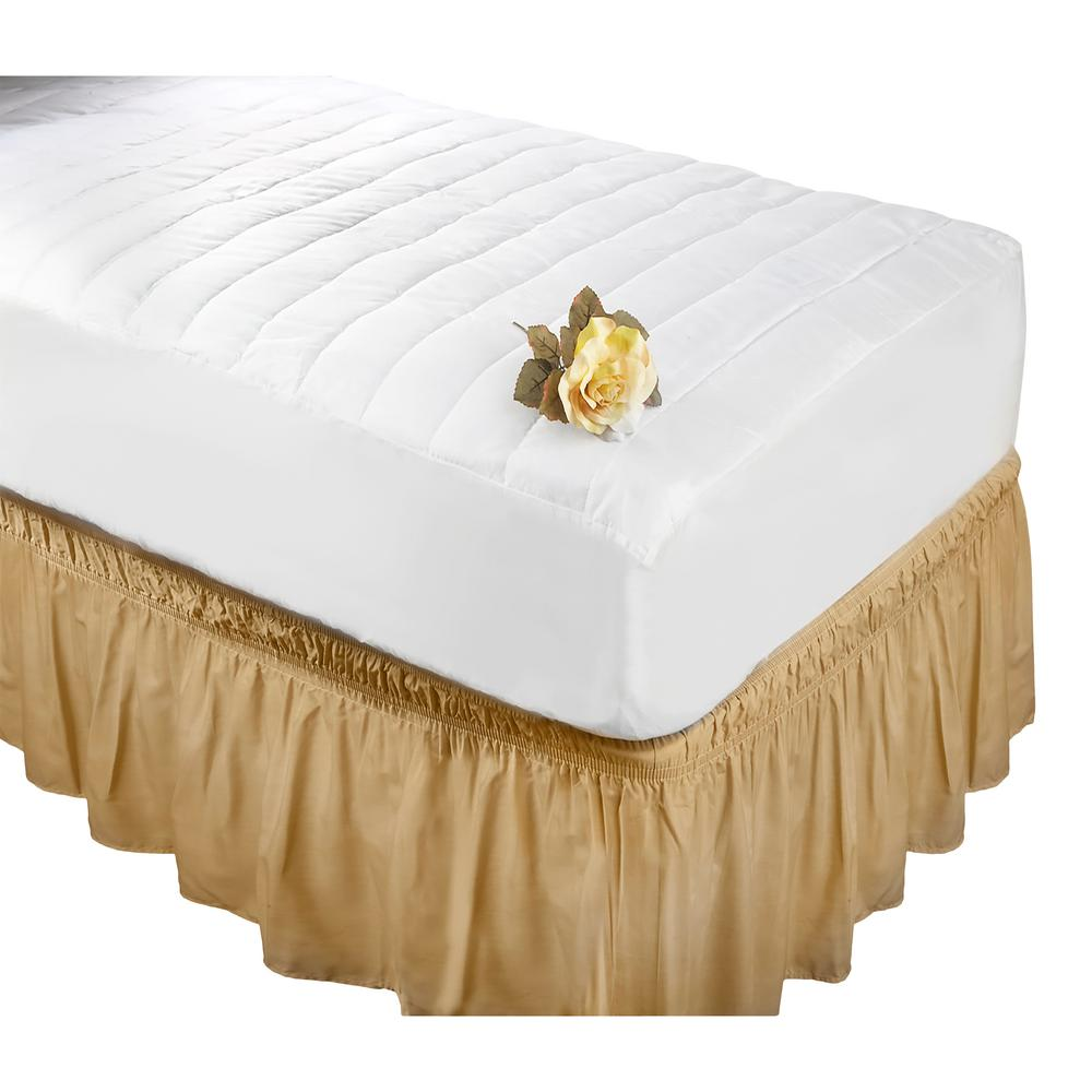 quilted fitted mattress luxurious pad cotton topper twin king top cal cover itm