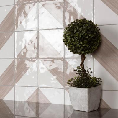 Triangle Rustique Glossy Taupe 6 in. x 6 in. Ceramic Wall Tile (7.47 sq. ft./Case)