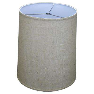 Fenchel Shades 13 in. Top Diameter x 15 in. Bottom Diameter x 17 in. Slant, Burlap Natural Empire Lamp Shade