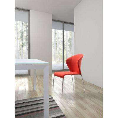 Oulu Tangerine Fabric Side Chair (Set of 2)