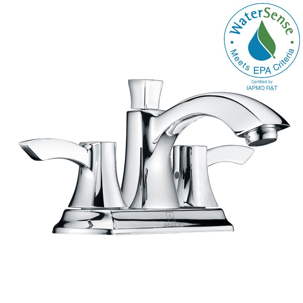 Vista Series 4 in. Centerset 2-Handle Mid-Arc Bathroom Faucet in Polished