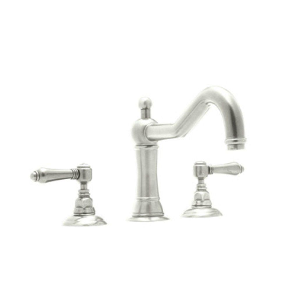 rohl acqui 8 in widespread 2 handle bathroom faucet in polished nickel a1409lmpn 2 the home depot