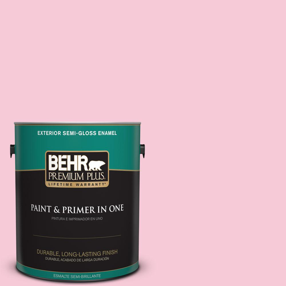 1-gal. #110A-3 Palace Rose Semi-Gloss Enamel Exterior Paint