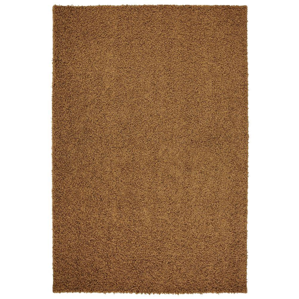 Mohawk Home Triexta Satin Burnished Brown 9 ft. x 12 ft. Area Rug