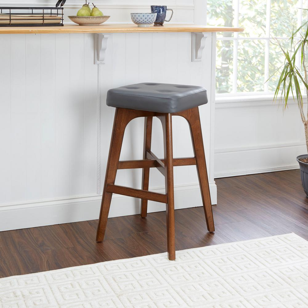 Beacon 29 in. Brown Bar Stool