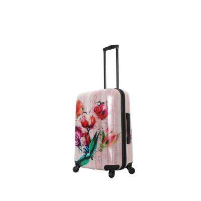Paola 24 in. Painted Flowers Spinner Suitcase