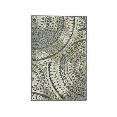Spiral Medallion Gray 2 Ft X 3 Ter Rug