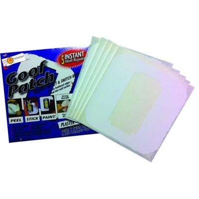 6 in. x 6 in. Self-Adhesive Goof Patch Smooth Mis-Cut Switch and Outlet Wall Patch Repair Kit (100-Pack)
