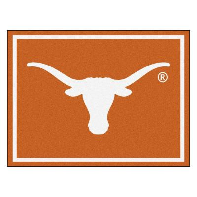 NCAA University of Texas Orange 8 ft. x 10 ft. Indoor Area Rug