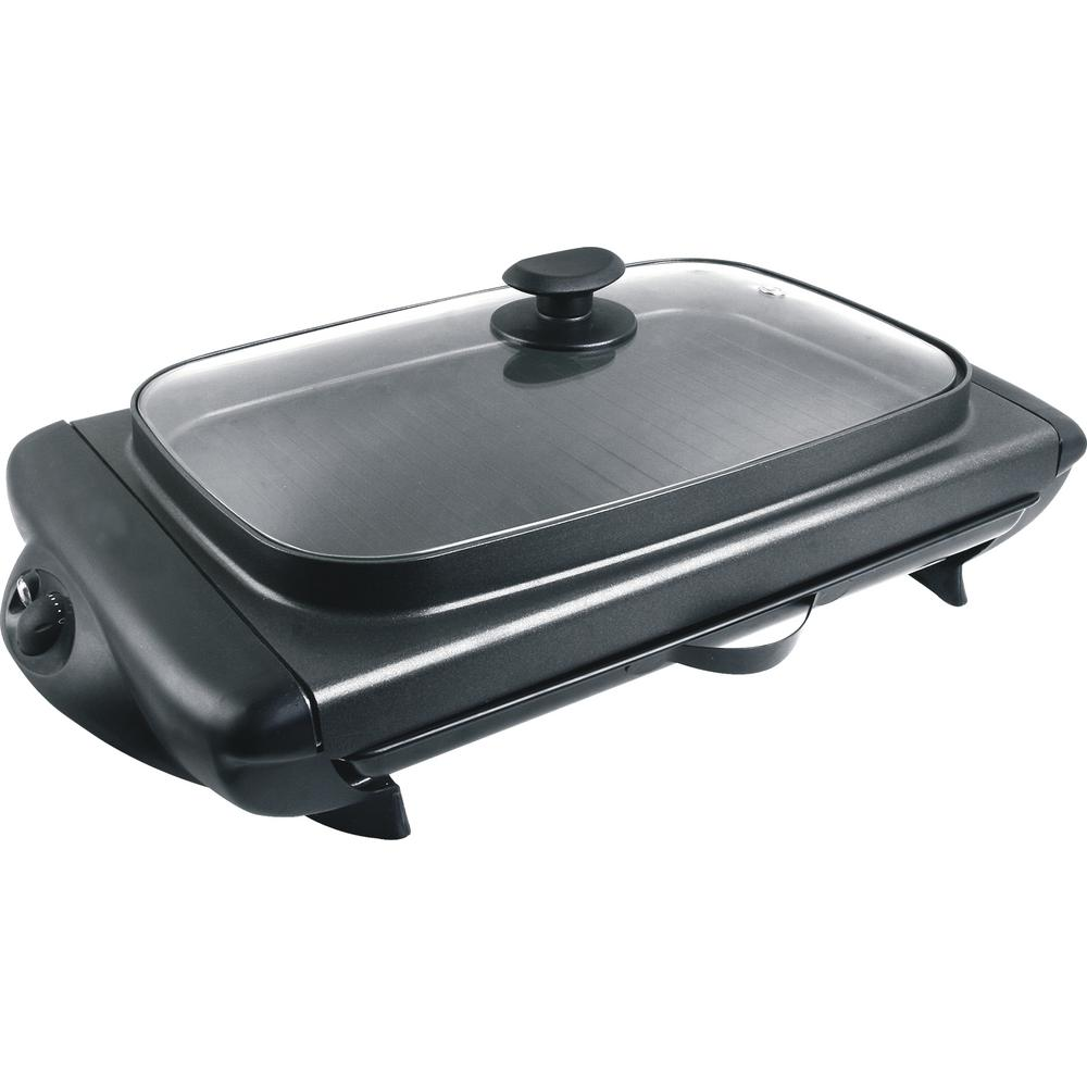 Tayama Indoor Electric Griddle In Black Tg 821 The Home