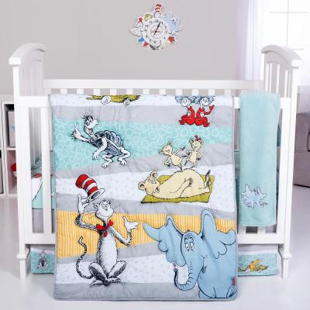 Dr. Seuss Book Club 4-Piece Crib Bedding Set