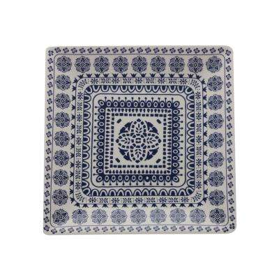 Blue Antico Ceramic Square Platter