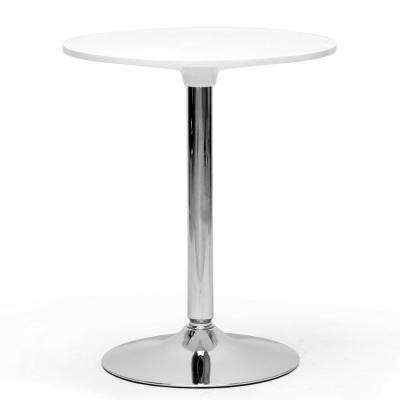 Ji White Finished Plastic Bistro Table