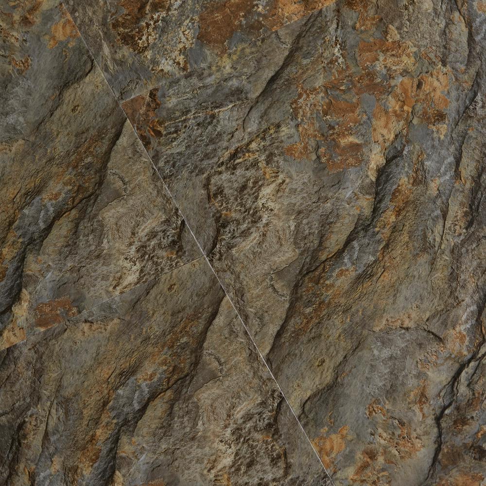 Textured Rock Grain Riverton 6 mm x 12 in. Width x 24 in. Length Vinyl Plank Flooring (16.02 sq.ft/case)