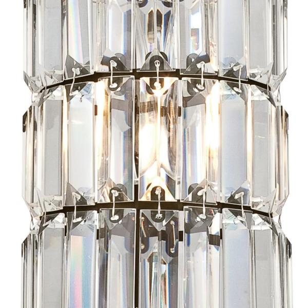 Westinghouse Lighting 6338900 Sophie One-Light Indoor Mini Pendant Brushed Nickel Finish with Crystal Prism Glass
