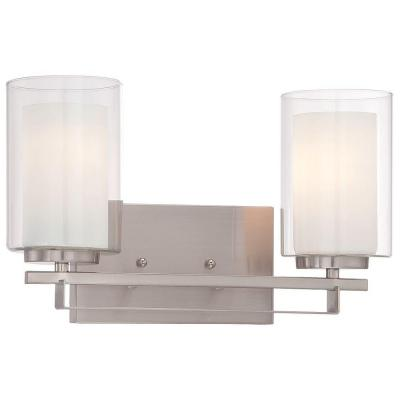 Parsons Studio 2-Light Brushed Nickel Bath Wall Mount