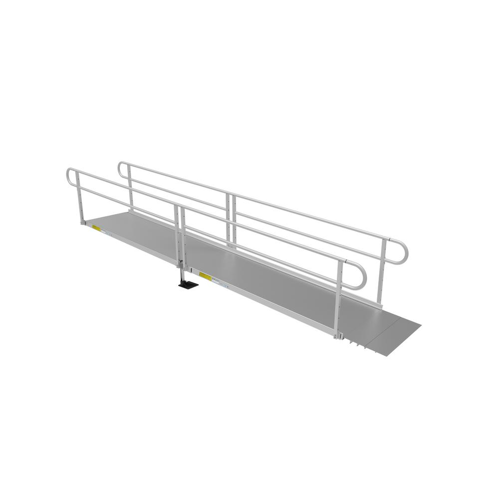 EZ-ACCESS PATHWAY 3G 16 ft. Ramp Kit with Solid Surface Tread and Two-line Handrails