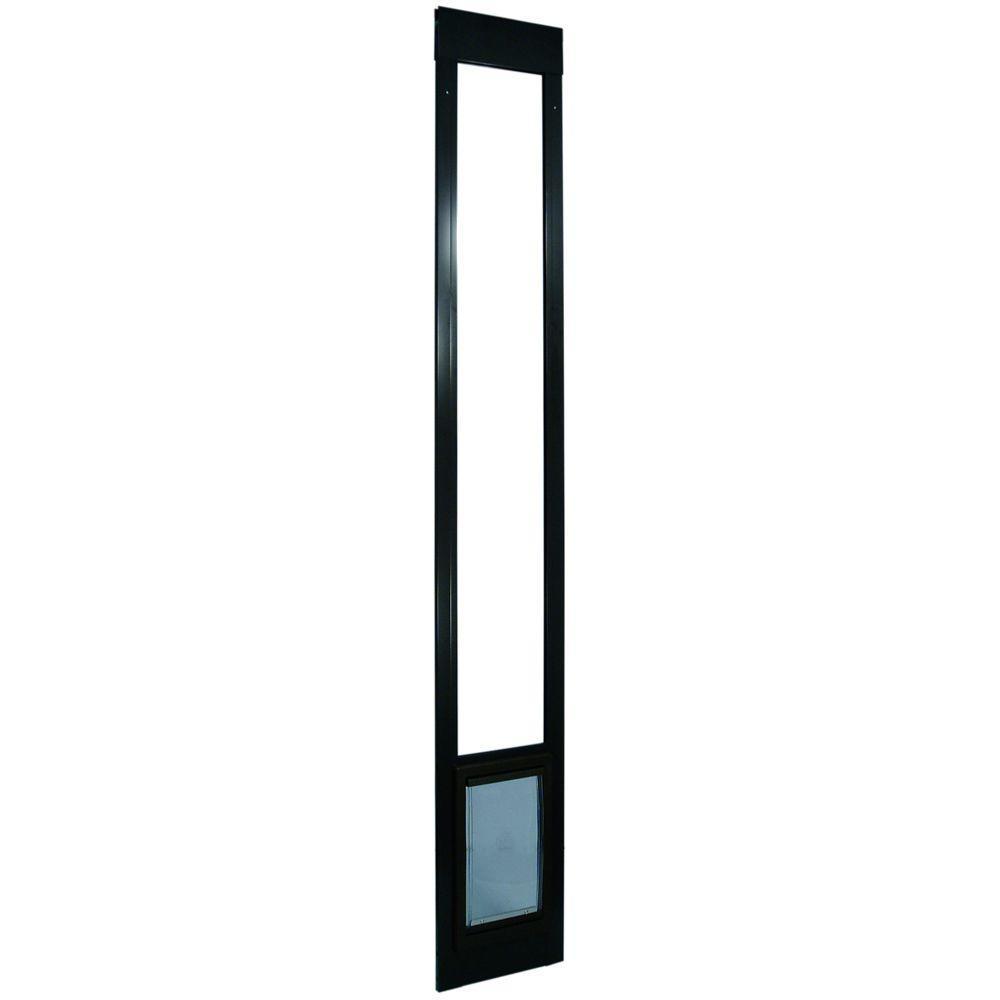 Ideal Pet 7 in. x 11.25 in. Medium Aluminum Pet Patio Door Fits 77.6 in. to 80.4 in. Tall Sliding Glass Alum Door-DISCONTINUED