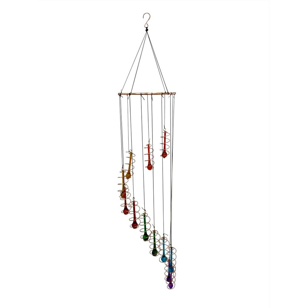 Alpine 36 in colorful glass hanging decor with beads for Alpine decoration