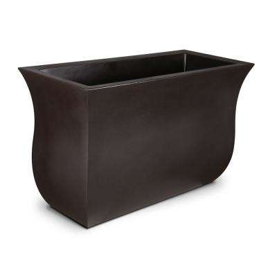 Valencia 36 in. x 16 in. x 22 in. Espresso Long Polyethylene Planter