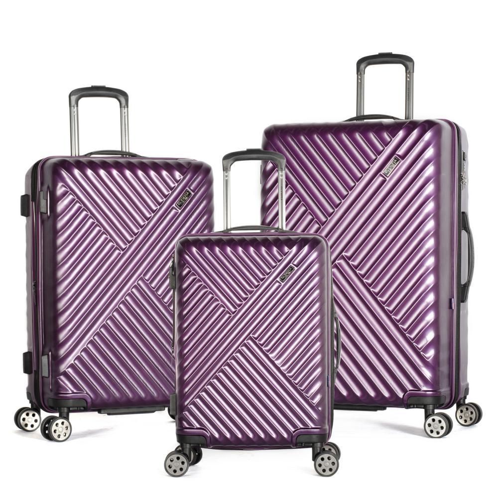 Matrix 3-Piece Expandable Purple Hardcase Spinner Set