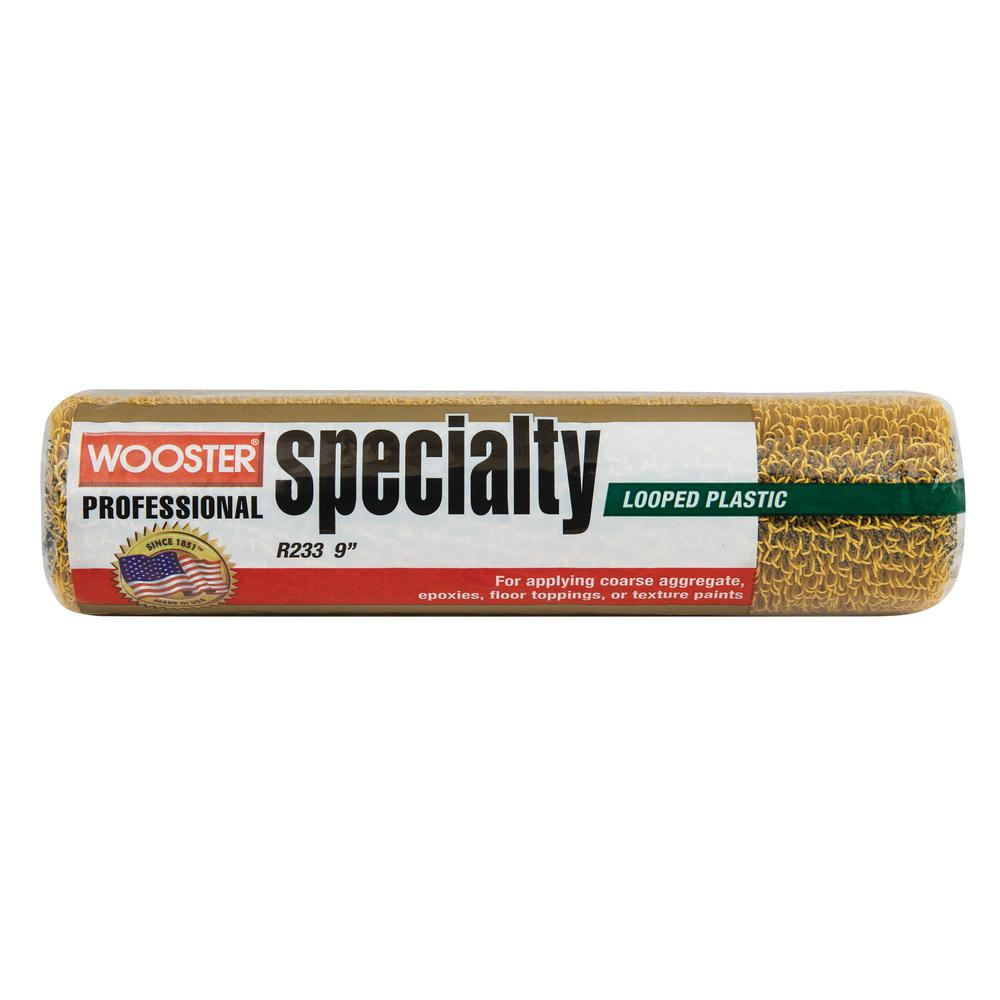 Wooster 9 in. x 1/4 in. Plastic Loop Texture Polyester Roller Cover
