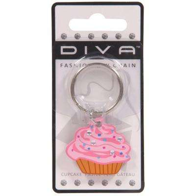 Diva Cupcake Key Chain (3-Pack)