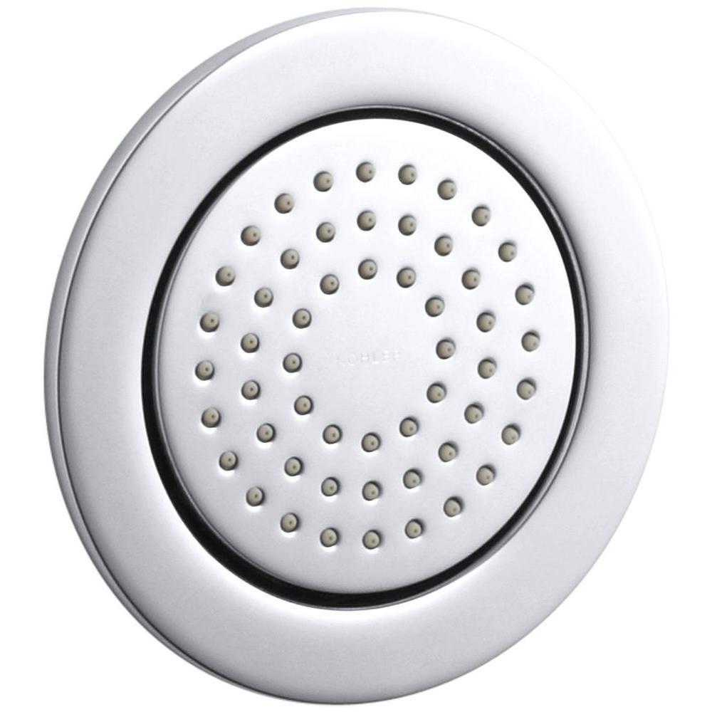 KOHLER WaterTile 4.875 in. 1-Spray 54-Nozzle Round Body Sprayer in Polished Chrome