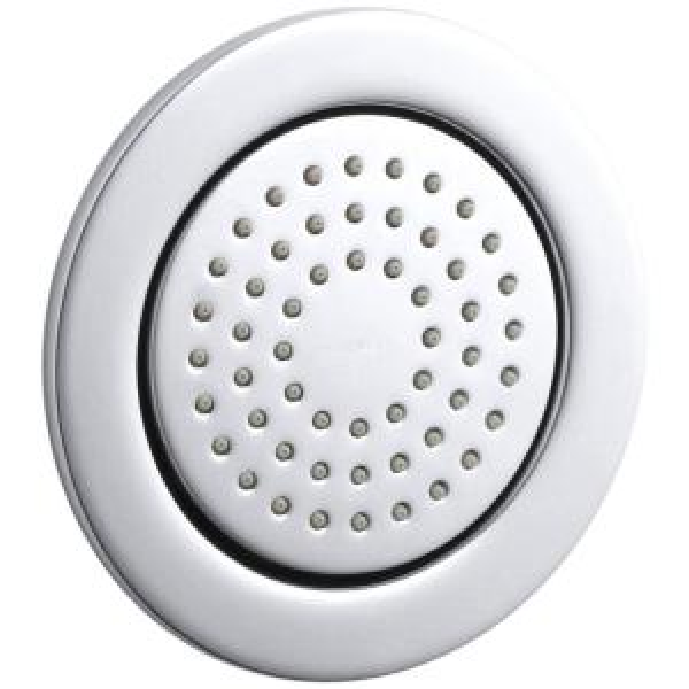 Kohler WaterTile 4.875 inch 1-Spray 54-Nozzle Round Body Sprayer in Polished Chrome by