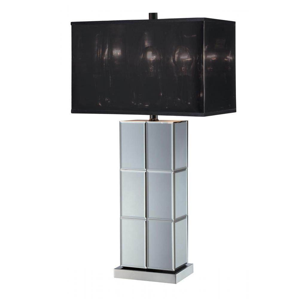 28 in. Silver Table Lamp