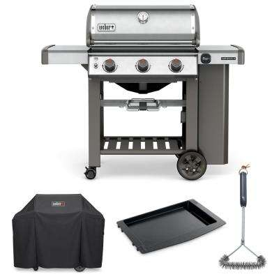Genesis II S-310 Liquid Propane Grill Combo with Grill Brush, Cover, and Cast-Iron Griddle