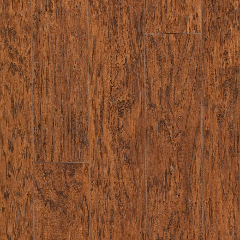 Hampton Bay Cleburne Hickory 8 mm Thick x 5- 3/8 in. Wide x 47-6/8 in. Length Laminate Flooring (25.19 sq. ft. / case)