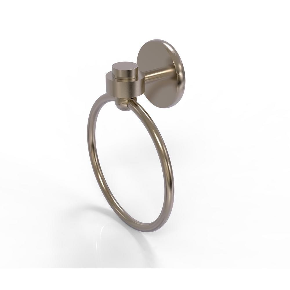 Allied Brass Satellite Orbit One Collection Towel Ring in Antique Pewter