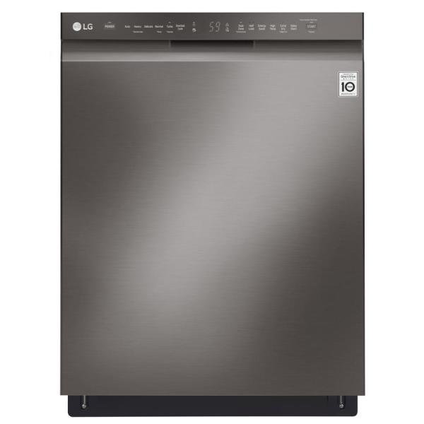 24 in. Front Control Built-In Tall Tub Dishwasher in Black Stainless Steel with QuadWash and Stainless Steel Tub, 48 dBA