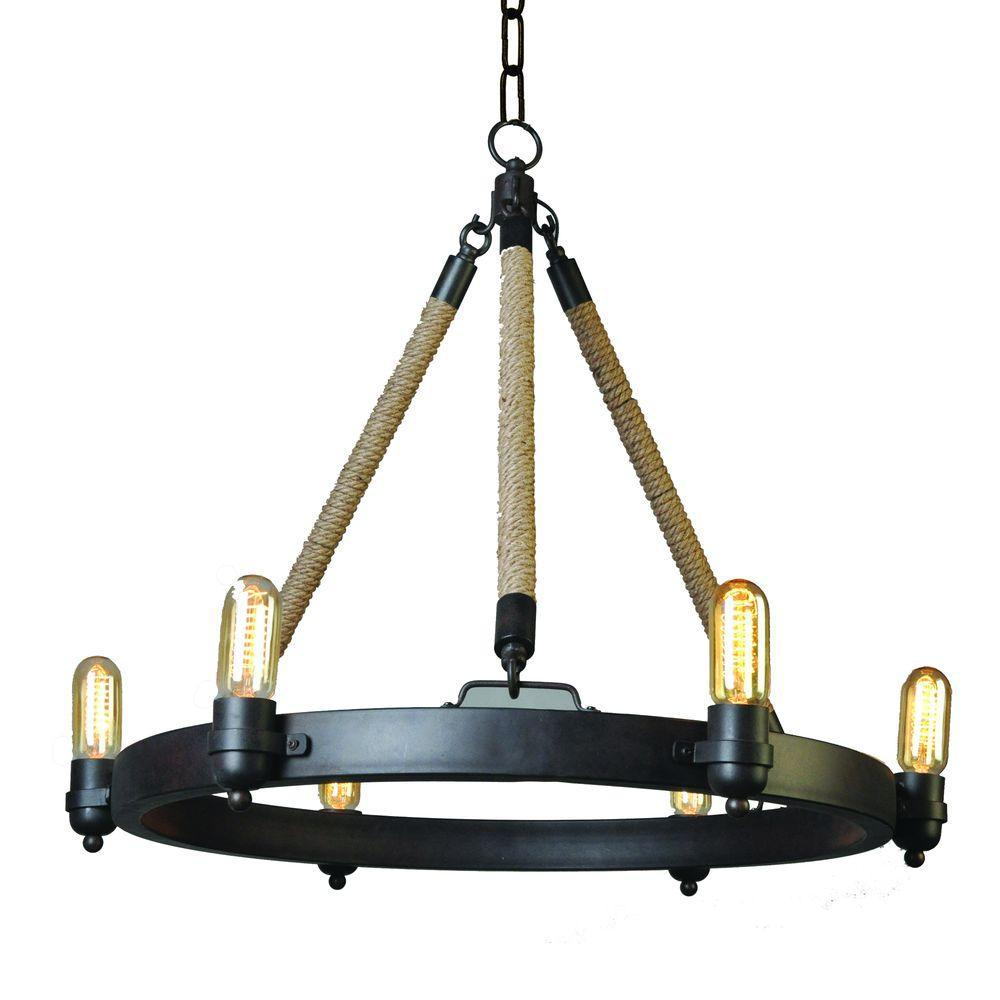 Kevin 6-Light Oil-Rubbed Bronze Chandelier