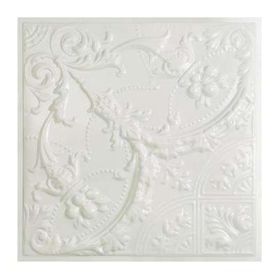 Saginaw 2 ft. x 2 ft. Lay-in Tin Ceiling Tile in Matte White