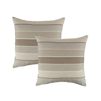 Sunbrella Milano Flax 18 in. Outdoor Pillow (Set of 2)
