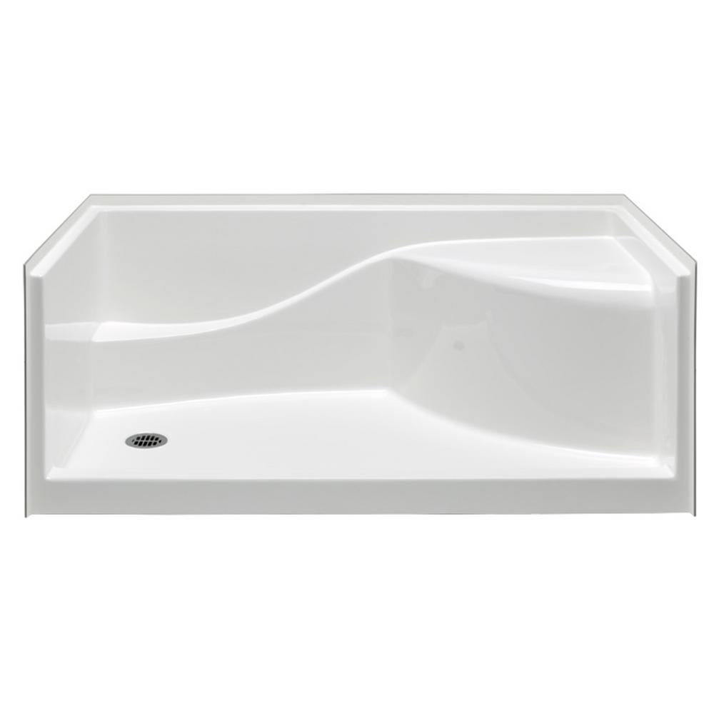 Aquatic Coronado 60 in. x 30 in. Single Threshold Left Drain