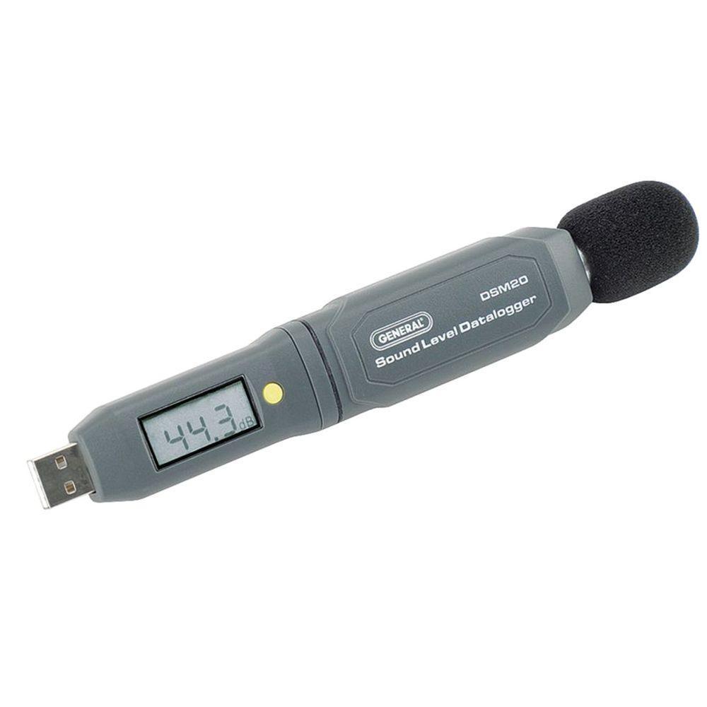 General Tools Data Logger USB Digital Sound Level