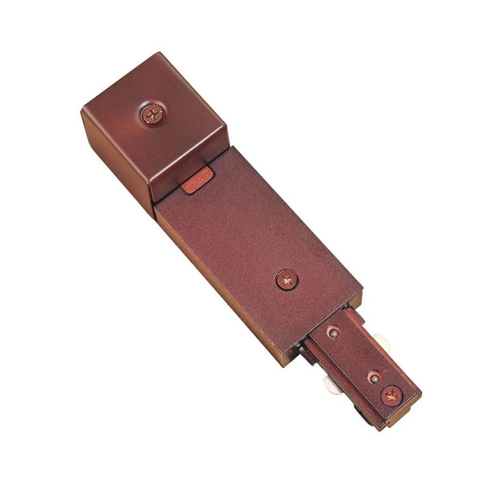hampton bay oil rubbed bronze linear track conduit power feed