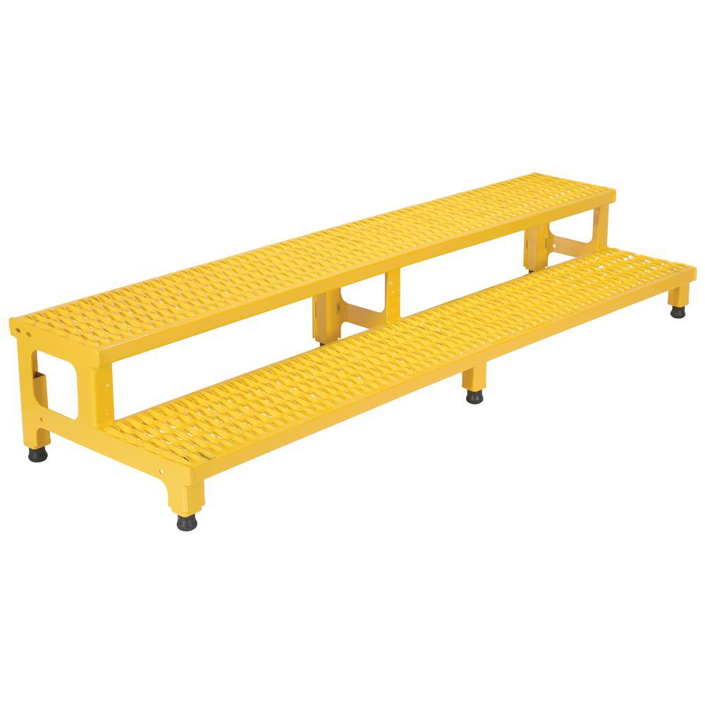 Vestil 72 inch x 23 inch 2-Step Adjustable Step Stand by Vestil