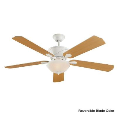 Shenandoah 60 in. LED White Ceiling Fan with Light and DC Motor
