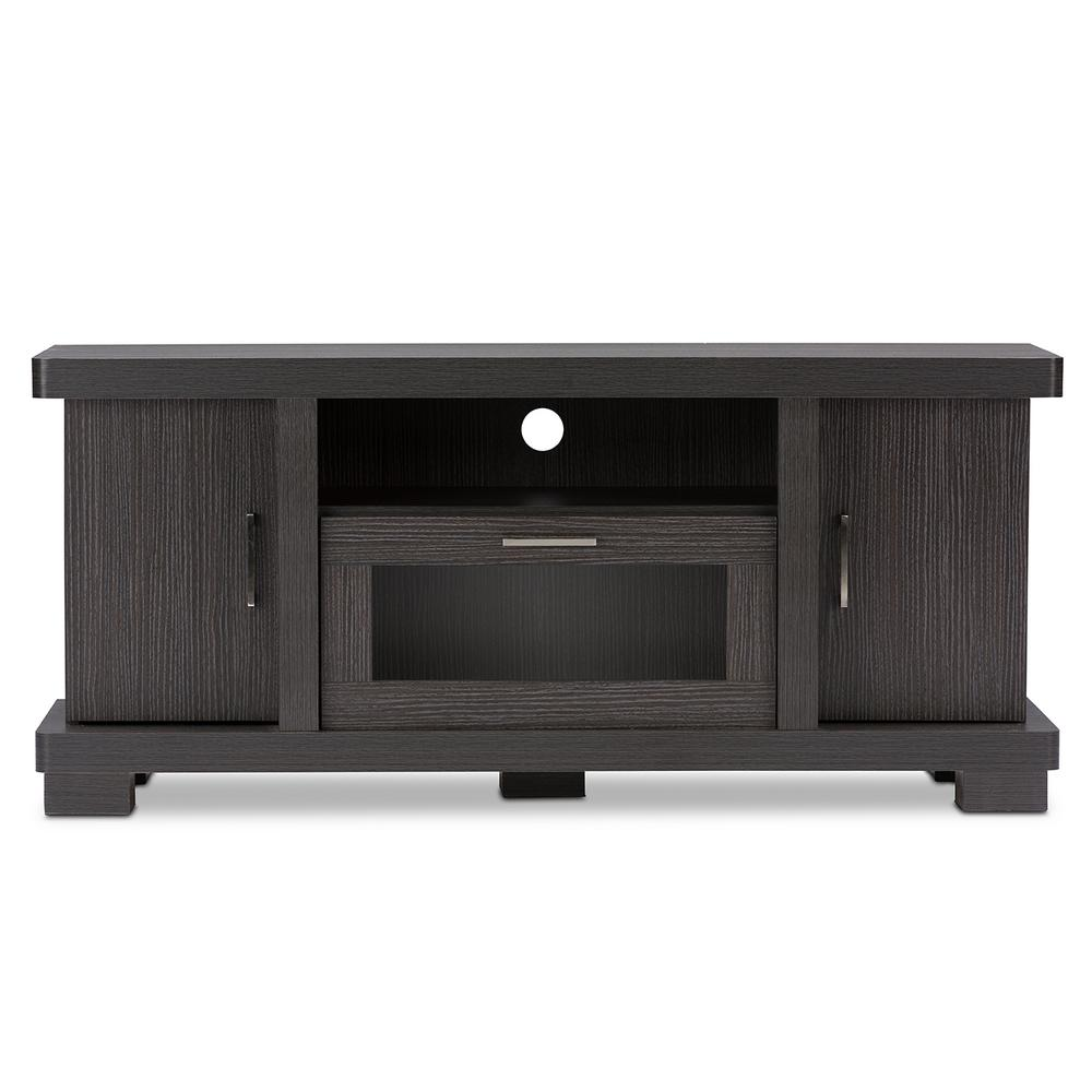 Baxton Studio Viveka Dark Brown Wood Entertainment Center