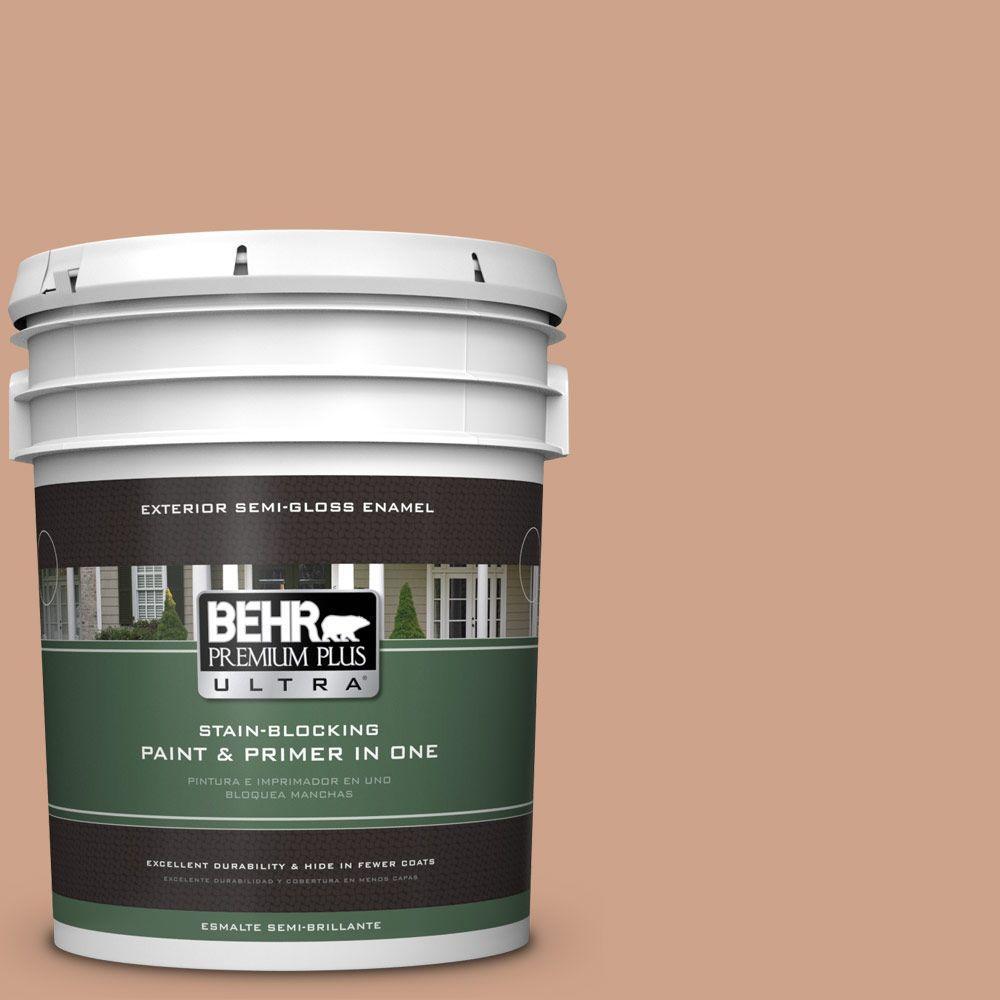 BEHR Premium Plus Ultra 5-gal. #PMD-76 Sienna Buff Semi-Gloss Enamel Exterior Paint